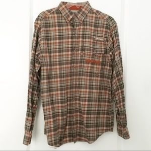 Columbia PFG Vented Flannel Shirt Men's Size Small